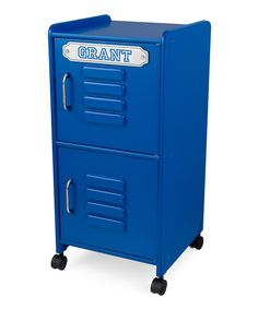 Love this Blue Two-Drawer Personalized Locker by KidKraft on #zulily! #zulilyfinds