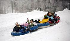Winter Weekends: Tubing in the Poconos - The New York Times Weekend Vacations, Weekend Getaways, Dream Vacations, Top Vacations, Vacation Humor, Vacation Spots, Vacation Ideas, Christmas Getaways, Pocono Mountains