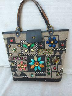 Enid Collins Jewel Patch purse