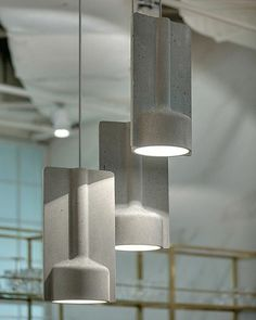 Concrete pendant lighting by Katerina Sokolova  Follow @platform____ for daily design content and Inspiration