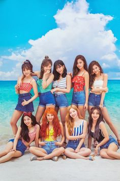 Left to right row - Jihyo, Momo and Chaeyoung. row - Tzuyu, Sana and Nayeon. Last row - Dahyun, Mina and Jeongyeon. Nayeon, K Pop, Kpop Girl Groups, Korean Girl Groups, Kpop Girls, Twice Dahyun, Tzuyu Twice, Mamamoo, Girls Generation