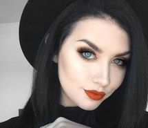 Inspiring image beauty, black hair, blue eyes, hair, makeup, red lips, style, rachel aust #3706209 by marine21 - Resolution 1273x1253px - Find the image to your taste