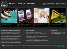 Casino consultants website - designed and built by Coventry web design company, Design One For Me
