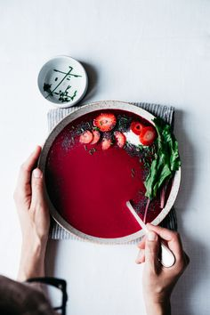 Beet and Strawberry Gazpacho | TENDING the TABLE