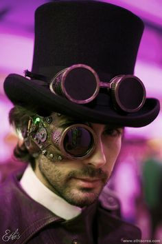Not sure why he's wearing a monocle with the goggles on the hat but I love the monocle.
