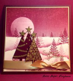 StampinUp Festival of Trees Designed by Pam Stoner of Pam's Paper Playhouse. Www.pamspaperplayhouse@wordpress.com