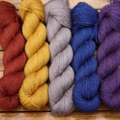 Eden Cottage Yarns Milburn 4 ply: British Bluefaced Leicester wool blended with silk to create a 4 ply yarn. Mill-dyed in the UK for Eden Cottage Yarns.