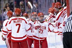 Our men's ice hockey team prepares for the 65th Beanpot Tournament.