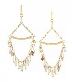 Chann Luu Gold-Plated, Bead and Opal Earrings
