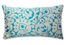 Savoie 14x24 Pillow, Aqua on OneKingsLane.com