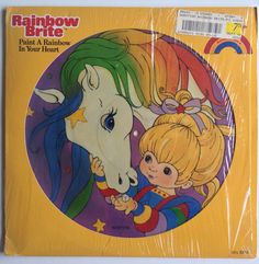 Rainbow Brite - Paint A Rainbow In Your Heart LP Picture Disc Vinyl Record, Buena Vista Records - 63156, 1984, Original Pressing