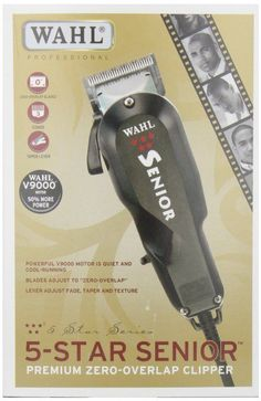 Mens Shavers: Wahl Five ( 5 ) Star Senior Professional Hair Clipper Barber, Salon Model # 8545 -> BUY IT NOW ONLY: $64.95 on eBay!