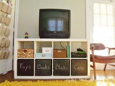 three dollar expedit chalkboard boxes (560×420) | Living Well on the Cheap