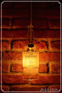 Glenlivet Bottle Light Hängelampe Pendellampe von JealousDesign auf Etsy