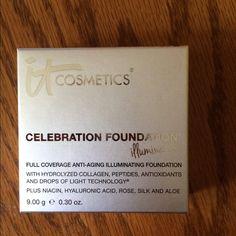 It Cosmetics Celebration Foundation Illumination Shade is medium. Brand new and never used! Full coverage anti aging illuminating foundation It Cosmetics Makeup Foundation