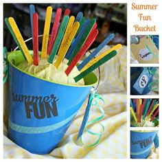 Summer Bucket List of Fun Craft. Create a list of things you want to do this Summer and put them in a bucket, a great activity for the whole family!