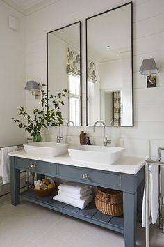 gorgeous modern farmhouse bathroom decor ideas match with any home design 74 Bathroom Colors, White Bathroom, Colorful Bathroom, Bathroom Ideas, Bathroom Vanities, Bathroom Designs, Bathroom Organization, Remodel Bathroom, Bathroom Cabinets