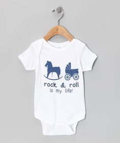 Take a look at this White 'Rock & Roll Is My Life' Bodysuit - Infant by American Classics on #zulily today!