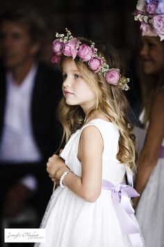 ❀ Fanciful Flower Girls ❀ dresses & hair accessories for the littlest wedding attendant :-) pink rose hair wreath