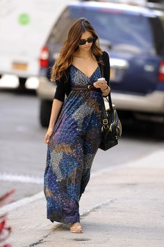 Nina Dobrev - Summer in New York City is the perfect time to break out the sundresses.