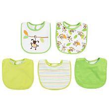 "Babies R Us Boys Bib 5 Pack - Monkey - Babies R Us - Babies ""R"" Us"
