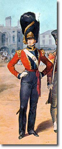 The Coldstream Regiment of Foot Guards OFICIAL DE LA COMPAÑIA DE GRANADEROS - 1821. Más en www.elgrancapitan.org/foro