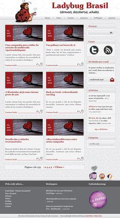 """Layout do Blog """"Ladybug Brasil"""""""