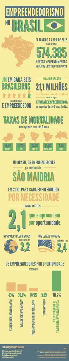 Empreender: Infográfico Empreendedorismo no Brasil