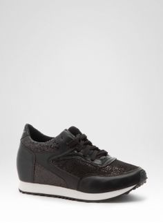 Trampki Czarne Sequins Black Trainers