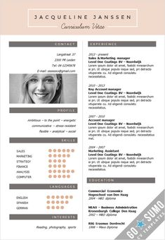 Creative cv template in Word and PowerPoint, fully editable. Curriculum vitae, resume. 2 color versions in 1 + 2nd page template + matching cover letter templates. https://gosumo-cvtemplate.com/all-cv-templates/