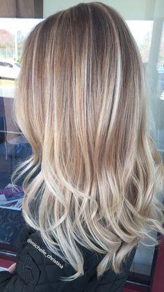 Blonde balayage #balayage #blonde #hairpainting #hair #haircolor