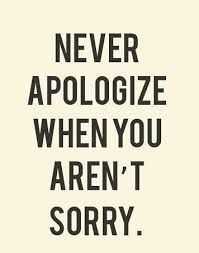 Image result for fake apology quotes