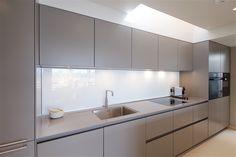 bulthaup b3 kitchen in city apartment - matt lacquer in white & flint