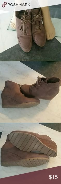 Booties Soft brush suede like ankle booties massini Shoes Ankle Boots & Booties