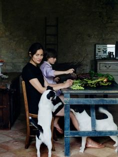Bon Appetit: Mimi Thorisson on her Kitchen in France & her Aunt's Fava Bean Soup - Eat Boutique - Food Gift Love Mimi Thorisson, Smooth Fox Terriers, French Lifestyle, New Cookbooks, We Fall In Love, French Food, Learn French, Food Gifts, Country Life