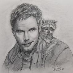 Chris Pratt Guardians Of The Galaxy Pencil Drawings, My Drawings, Chris Pratt, Guardians Of The Galaxy, Art, Art Background, Kunst, Performing Arts
