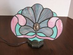 Victorian Inspired Stained Glass Fan Lamp by GlassPizazz on Etsy, $75.00