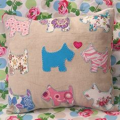 Scotty Dog Pillow Cover … simplicity itself! Includes Scotty Dog pattern
