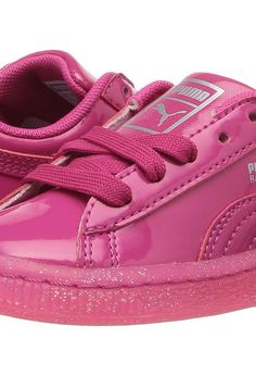Puma Kids Basket Patent Iced Glitter INF (Toddler) (Beetroot Purple/Beetroot Purple) Girls Shoes - Puma Kids, Basket Patent Iced Glitter INF (Toddler), 36246701-690, Footwear Closed Lace up casual, Lace up casual, Closed Footwear, Footwear, Shoes, Gift, - Fashion Ideas To Inspire