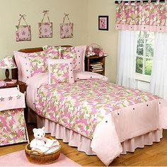 Pink Camouflage Girls Room Heathers is the crib version