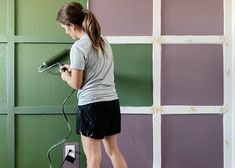 Learn how to create a grid accent wall in your home then paint it with a Wagner SMART Sidekick roller for continuous painting from the can.