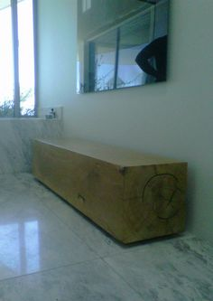 Bespoke furniture designed according to client specifications - Gum Block Bench, 2000 x 400 x 400, with hidden spacer feet