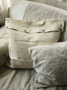 French linen Linen Pillows, Linen Bedding, Linen Fabric, Decorative Pillows, Bed Linen, Throw Pillows, Vintage Textiles, Vintage Linen, Vintage Pillows