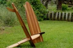 Bombwatcher Surfboard Chairs - The worlds first fold to flat chair!