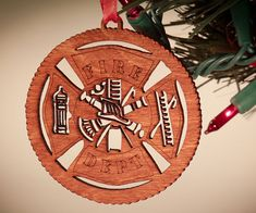 Fire Fighter Ornament Christmas ornament for that special by 5thP, $4.50