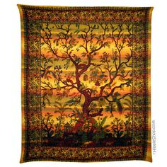 Tree of Life Sunset Tapestry (for those who cannot yet afford to commission the next Bayeux Tapestry) Hippie Home Decor, Home Office Decor, Tree Of Life Tapestry, Hippie Bedding, Bayeux Tapestry, Hippie Shop, Hippie Lifestyle, Bohemian Tapestry, Age Of Aquarius