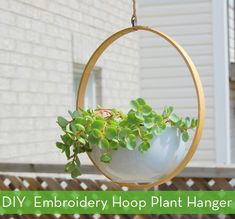 How To: Make an Embroidery Hoop Plant Hanger