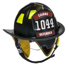 Cairns 1010 Traditional Fire Helmet with Defender Visor Standard NFPA