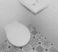 Notre interprétation perso du retro vintage#retro#carreaux de ciment#metro#patchwork#ceramic tiles#vives vodevil#delafon