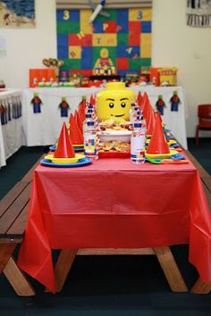 Lego Party, Dessert Station, Children's table and Drinks Station